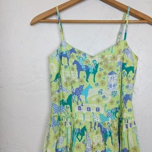 Lilly Pulitzer Low Riders Derby Fit n Flare Dress